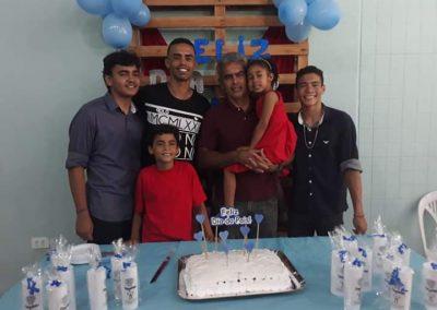 Dia dos pais - Albegino e seus filhos